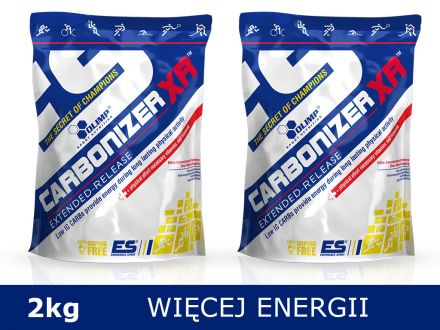 Węglowodany dla biegaczy, kolarzy Olimp Carbonizer XR 2kg [2x1kg] - smak pomarańczowy