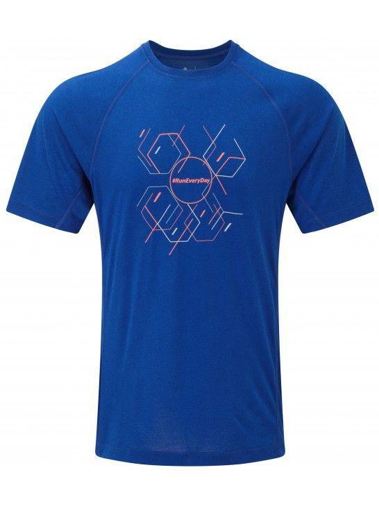 Ronhill Stride Hexagon S/S Tee - Męska koszulka biegowa