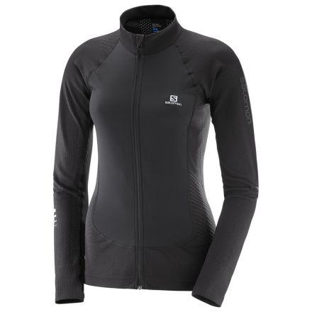 Damska bluza do biegania Salomon Lighting Pro FZ MID W