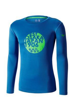 Mizuno Core Graphic LS Tee - męska lekka bluza do biegania