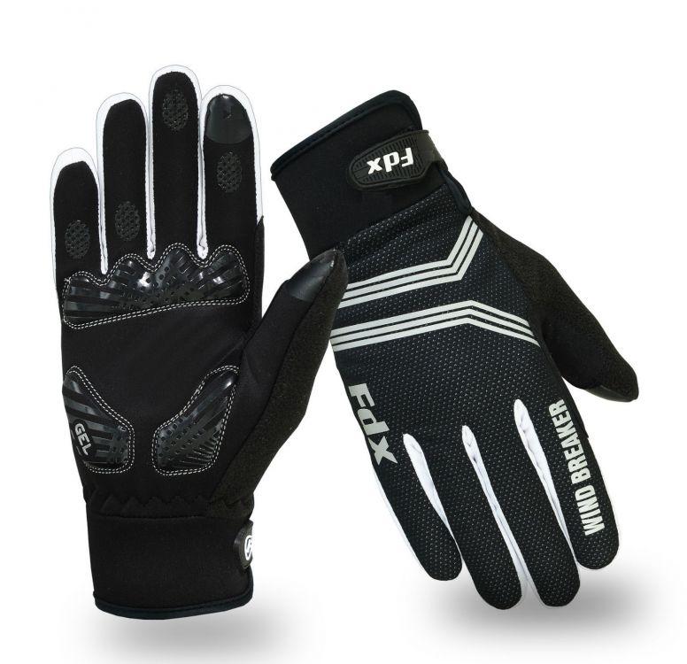 FDX Winter Wind Breaker Gel Cycling Gloves - zimowe rękawiczki rowerowe