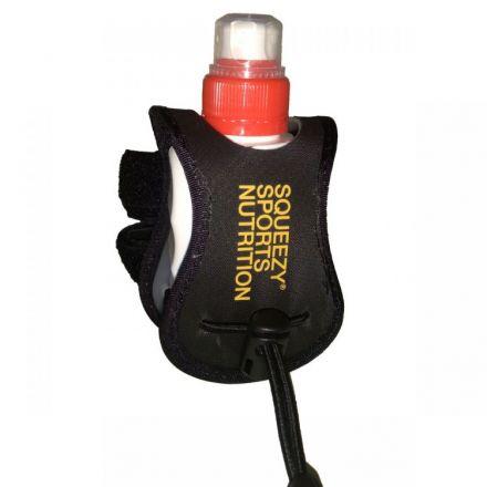 Squeezy Energy Gel 125ml Coffeine + Squeezy Bottle Holder - zestaw żel energetyczny plus uchwyt do roweru.