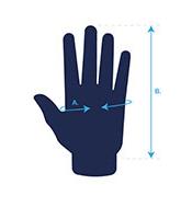 zdjęcie pokazujące jak dokonać pomiaru dłoni w doborze męskich rękawiczek rogelli