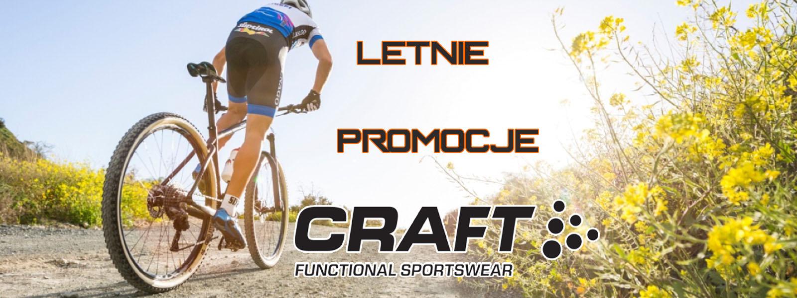promocja na letnią odzież rowerową craft, spodenki i koszulki rowerowe