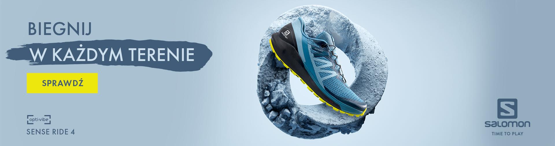 Nowy model butów do biegania Salomon Sense Ride 4. Uniwersalne buty do biegania w terenie i po asfalcie