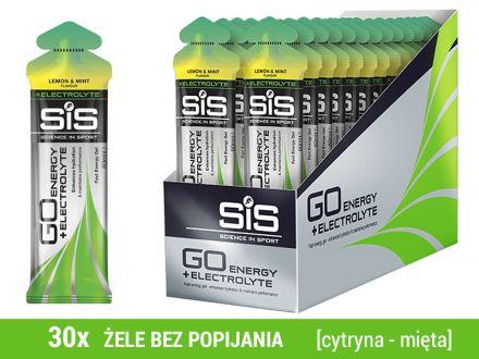 SIS GO Energy +Electrolyte 30x60ml - [cytryna-mięta]