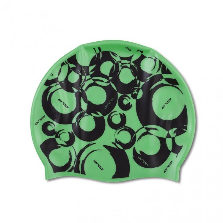 Orca Silicone Swim Cap Print