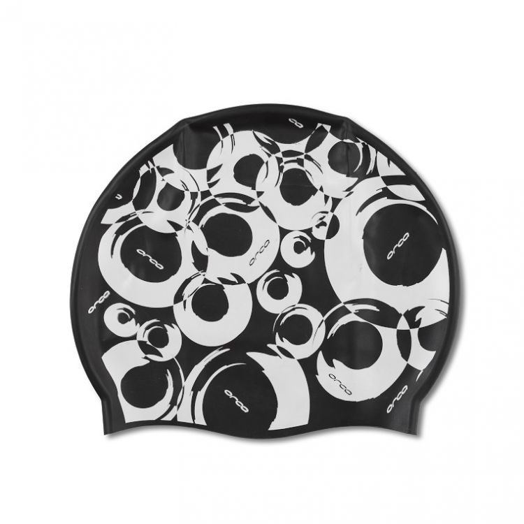 Orca Silicone Swim Cap Print