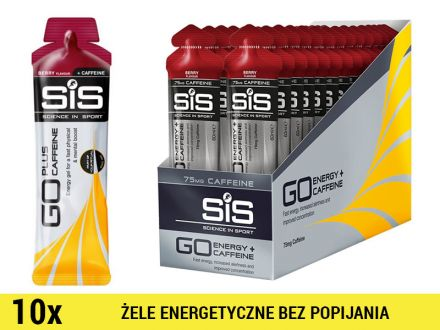 SiS GO Energy +Caffeine Gel [10x60ml] - jagoda