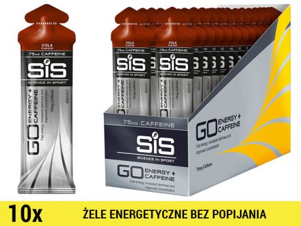 SiS GO Energy +Caffeine Gel [10x60ml] - cola