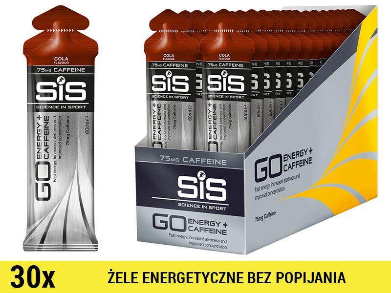 SiS GO Energy +Caffeine Gel [30x60ml] - cola