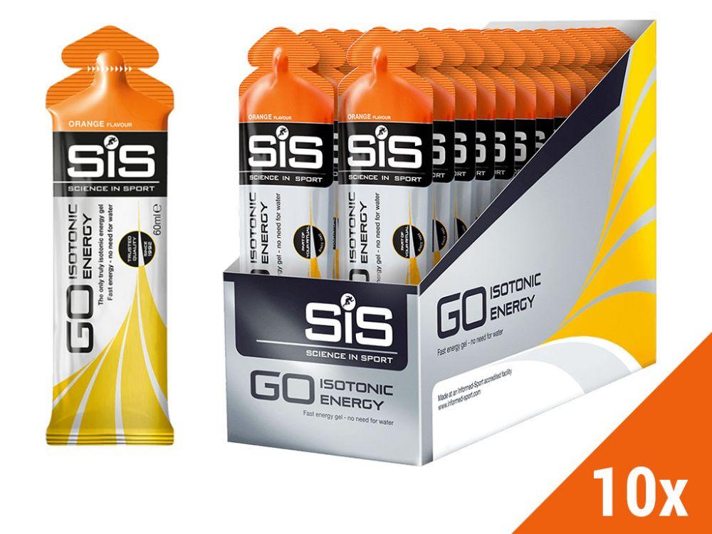 Żele energetyczny SIS GO Isotonic Gel 10x60ml -  smak: pomarańczowy