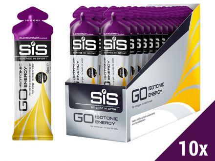 SIS GO Isotonic Gel 10x60ml - czarna porzeczka