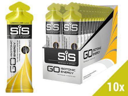 Żele energetyczny SIS GO Isotonic Gel 10x60ml - smak: cytryna i limonka