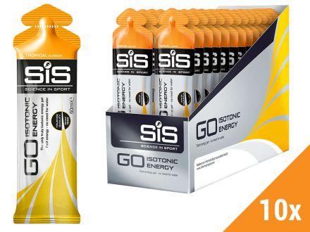 Żele energetyczny SIS GO Isotonic Gel 10x60ml - smak: tropikalny