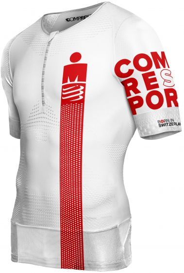Koszulka triathlonowa Compressport TR3 Areo Top IRONMAN® SMART