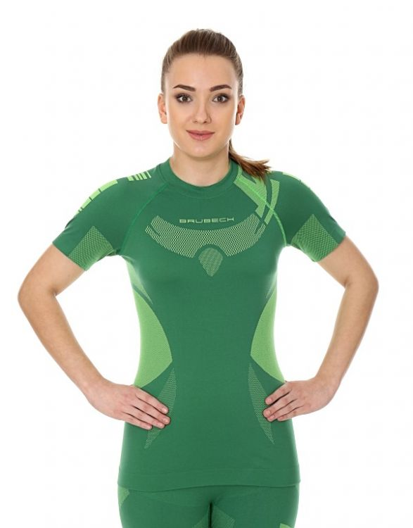Brubeck Dry - damska koszulka termoaktywna z krótkim rękawkiem
