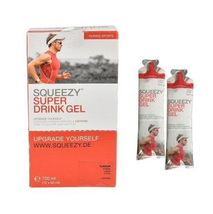 Squeezy Super Drink Gel z kofeiną 12X60ml