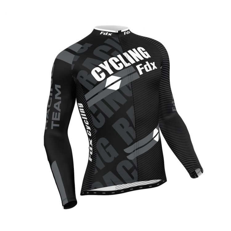 FDX Pro Cycling Long Sleeve Thermal Jersey