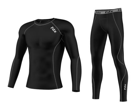 FDX Compression Base Layer Set | BLACK/FLOU