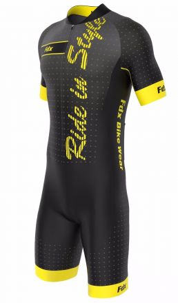 FDX Men Speed Race Gel Cycling Skinsuit - męski strój kolarski