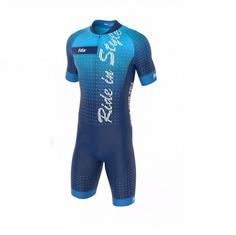 FDX Men Speed Race Gel Cycling Skinsuit