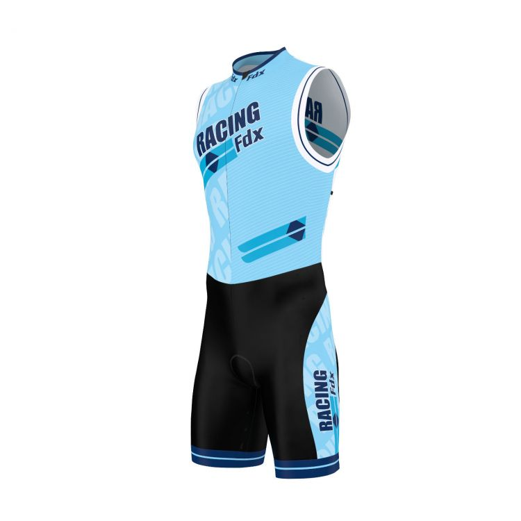 FDX Men PRO Racing Triathlon Skinsuit | BLUE