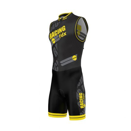 FDX Men PRO Racing Triathlon Skinsuit | BLACK