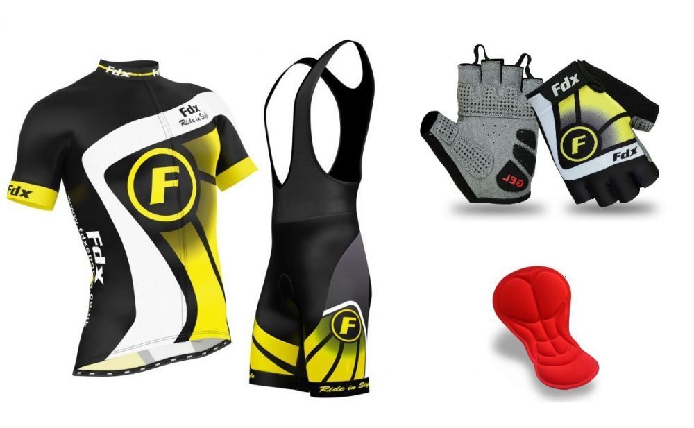 FDX Top Racing Set + Gloves | BLACK-YELLOW
