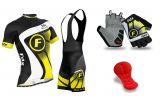 FDX Top Racing Set + Gloves | BLACK-YELLOW