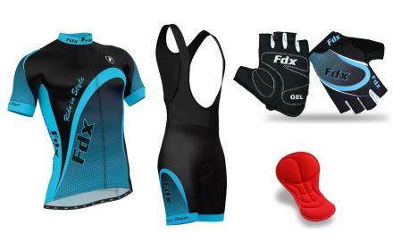 FDX Pro Cycling Set + Gloves