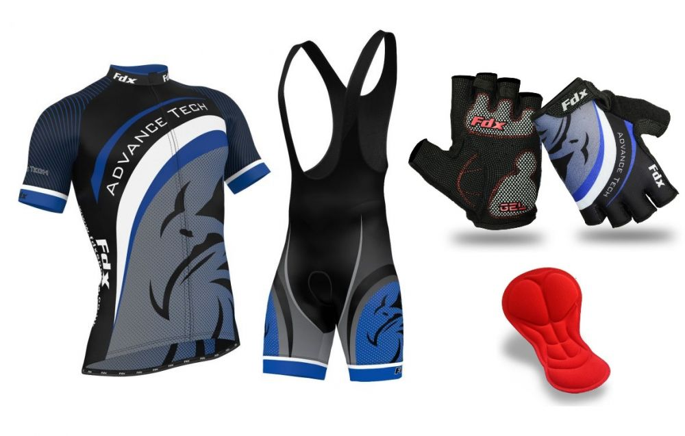 FDX Team Cycling Set + Gloves
