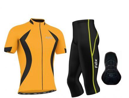 FDX Race Padding 3/4 Cycling Set - męska odzież rowerowa