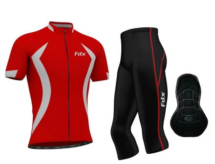 FDX Race Padding 3/4 Cycling Set