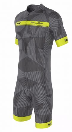 FDX Men Comfort Race Gel Cycling Skinsuit | SZARY