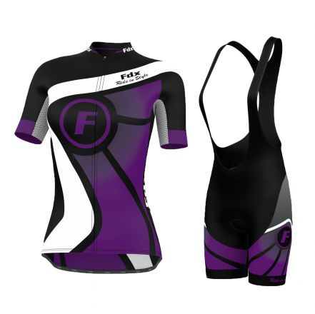 FDX Ride Style Ladies Set | CZARNO - FIOLETOWY