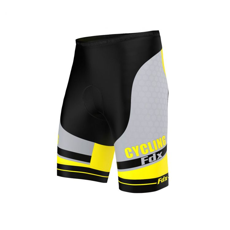 FDX Optimum Cycling 3D Shorts | ŻÓŁTO - CZARNE