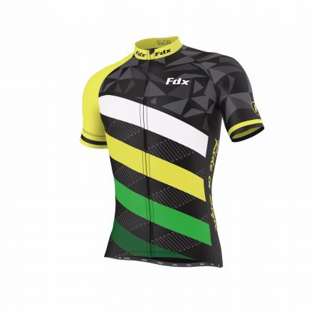 FDX Limited Edition Cycling Half Sleeve Jersey | BLK-GR