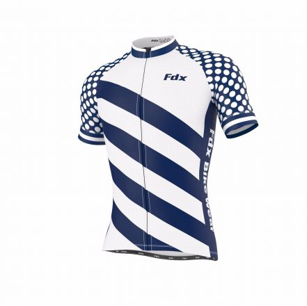 FDX Limited Edition Cycling Half Sleeve Jersey | BLU-WHT