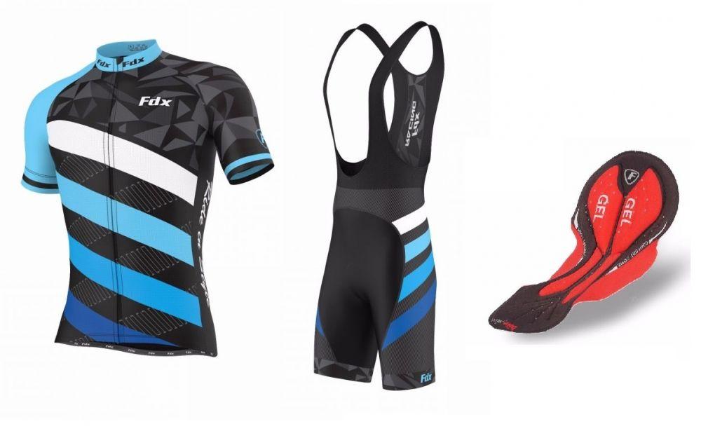 FDX Limited Edition Cycling Gel Set - zestaw męskiej odzieży rowerowej