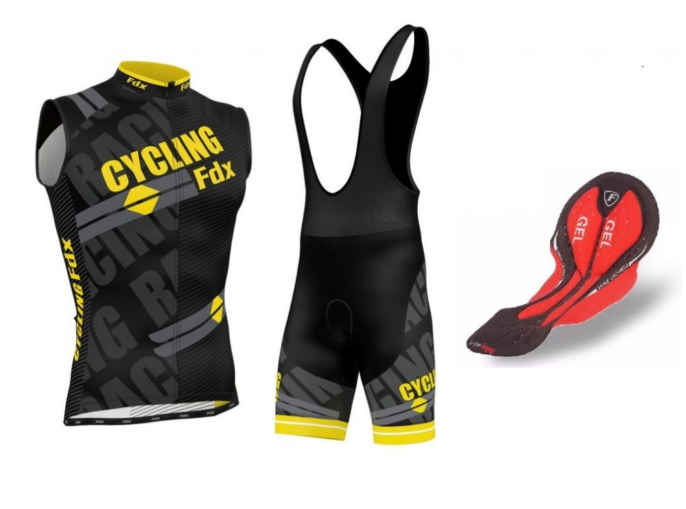 FDX Pro Cycling Sleevless Set