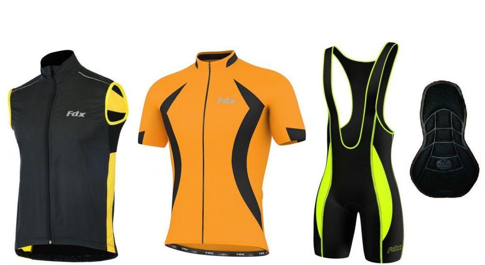 FDX Quality Cycling Gilet Set