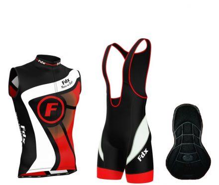FDX Performance Cycling Sleevless Set - zestaw męskiej odzieży rowerowej