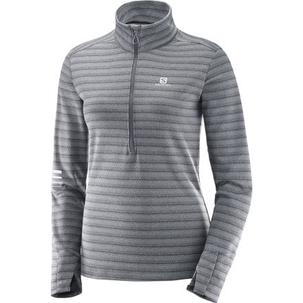 Damska bluza do biegania Salomon Lighting HZ MID W 397707