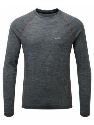 Ronhill Infinity Merino L/S Crew - męska lekka bluza z wełny merino
