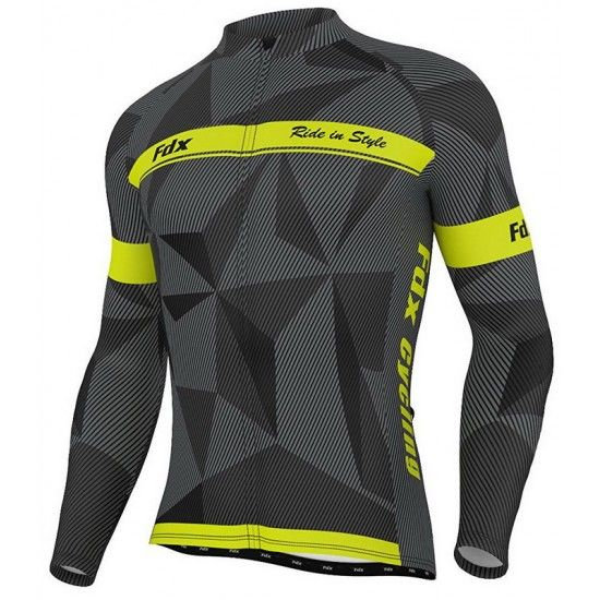 FDX Breathable Cycling Long Sleeve Jersey