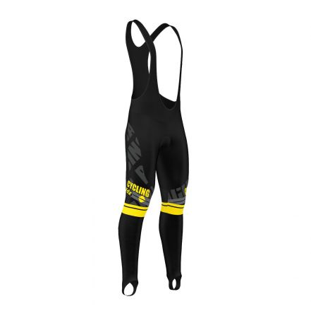 FDX Pro Winter Thermal Gel Bib Tight - męskie ocieplane getry rowerowe