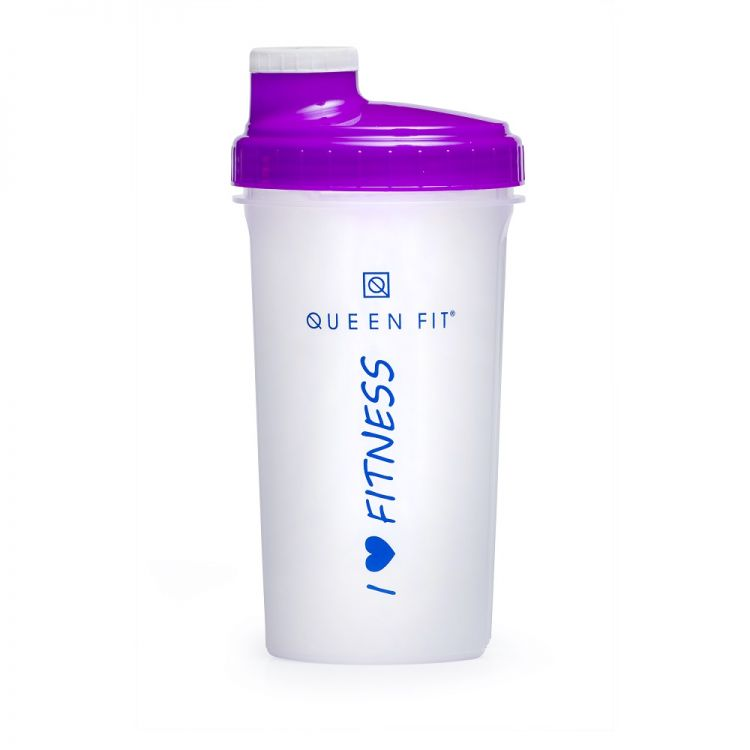 Olimp Shaker Queen Fit I Love Fitness | WHITE