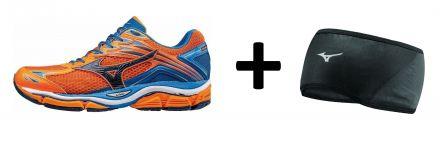 Zestaw męskich butów do biegania Mizuno Wave Enigma 6 plus skarpetki do biegania Mizuno DryLite Race Mid