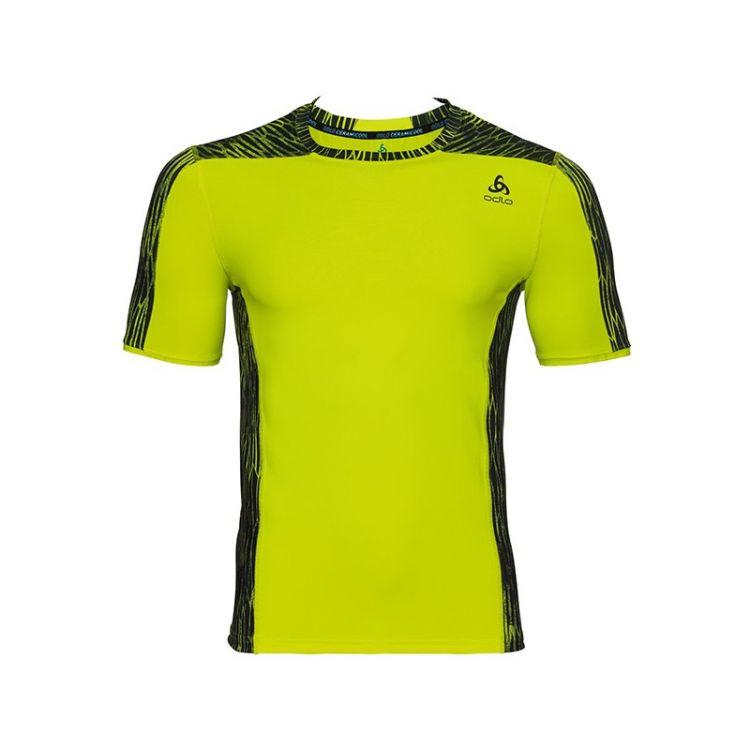 Odlo Ceramicool PRO Print BL Top - męska koszulka do biegania 350222_40191